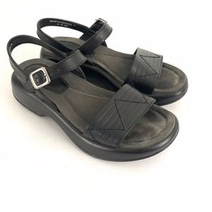 Dansko Black Sandals Ankle Strap
